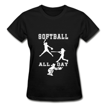 Softball All Day - black