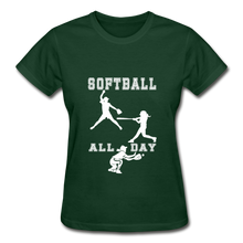 Softball All Day - forest green