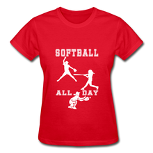 Softball All Day - red