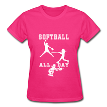 Softball All Day - fuchsia