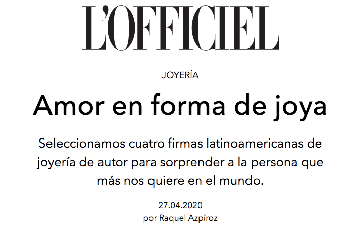L'Officiel (Abr 2020)