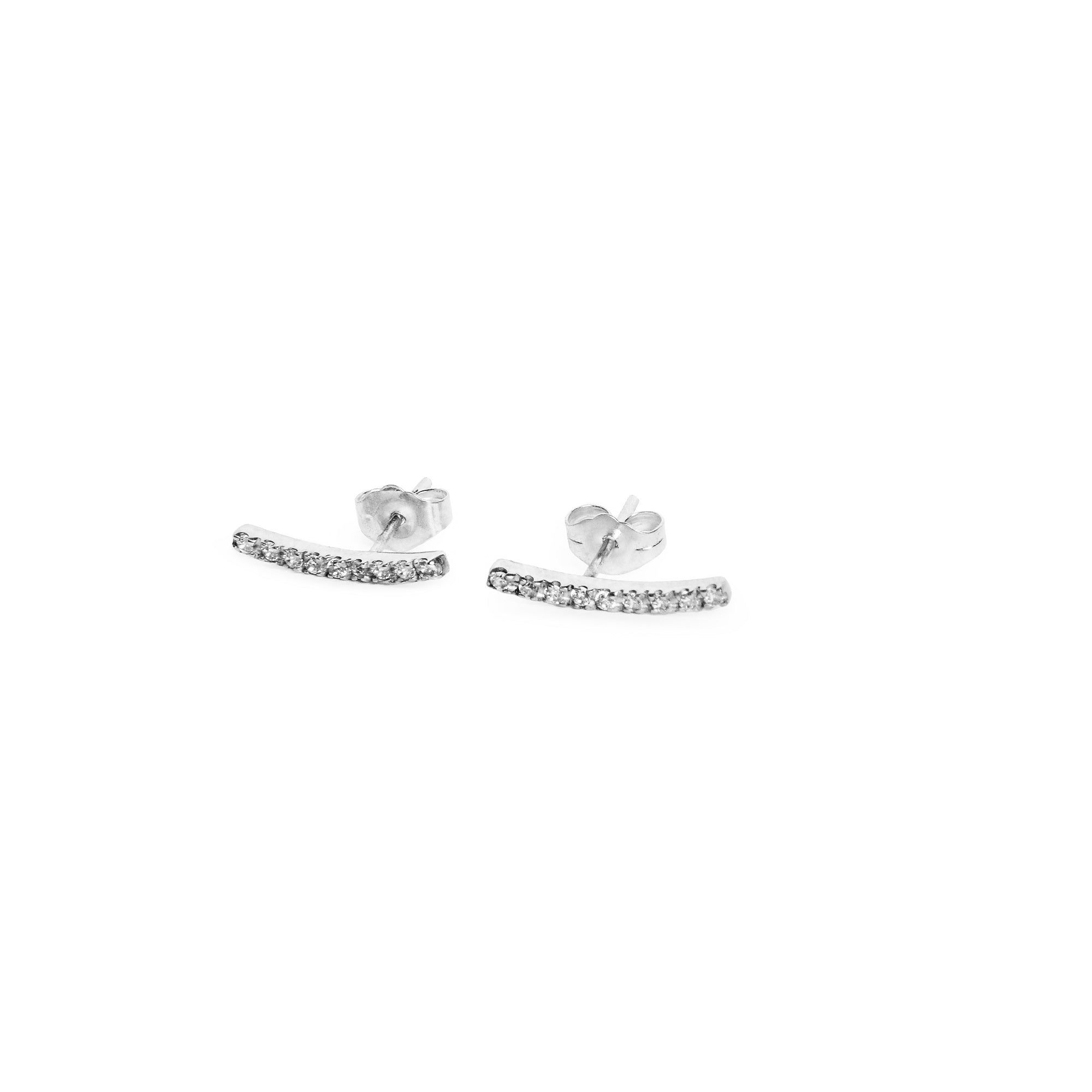 Gloria Earrings 14k White Gold and Diamonds