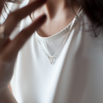Mini Triangle Necklace Silver