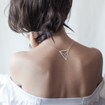 Divided Triangle Necklace Silver