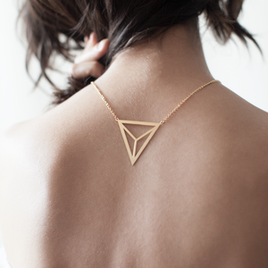 Divided Triangle Necklace