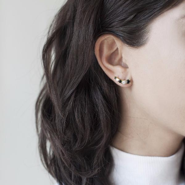 Black and White Adar Earcuff