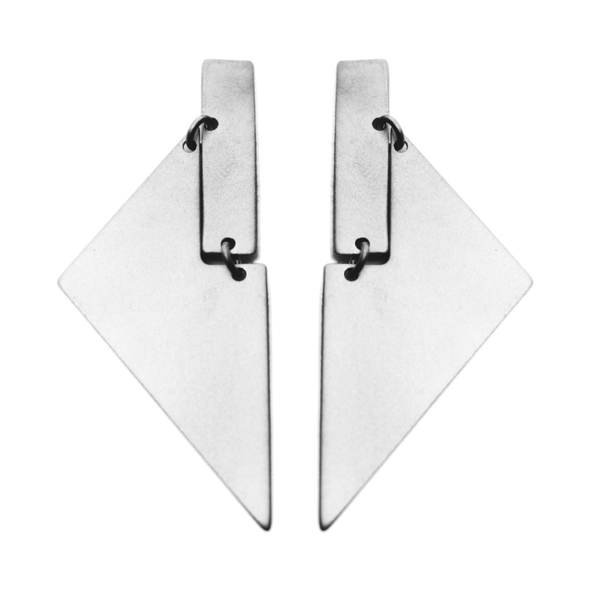 Arku Earrings Silver (Matte)