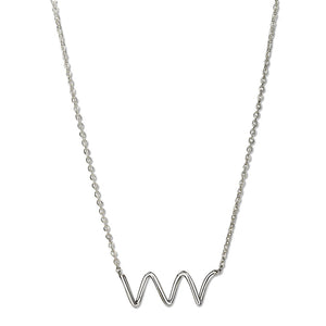 Mini Spiral Necklace Silver