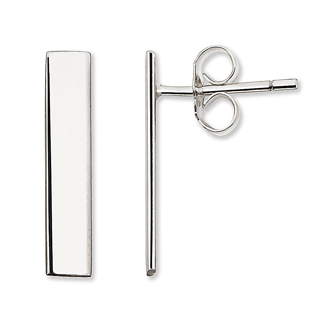 Bar Earrings Silver