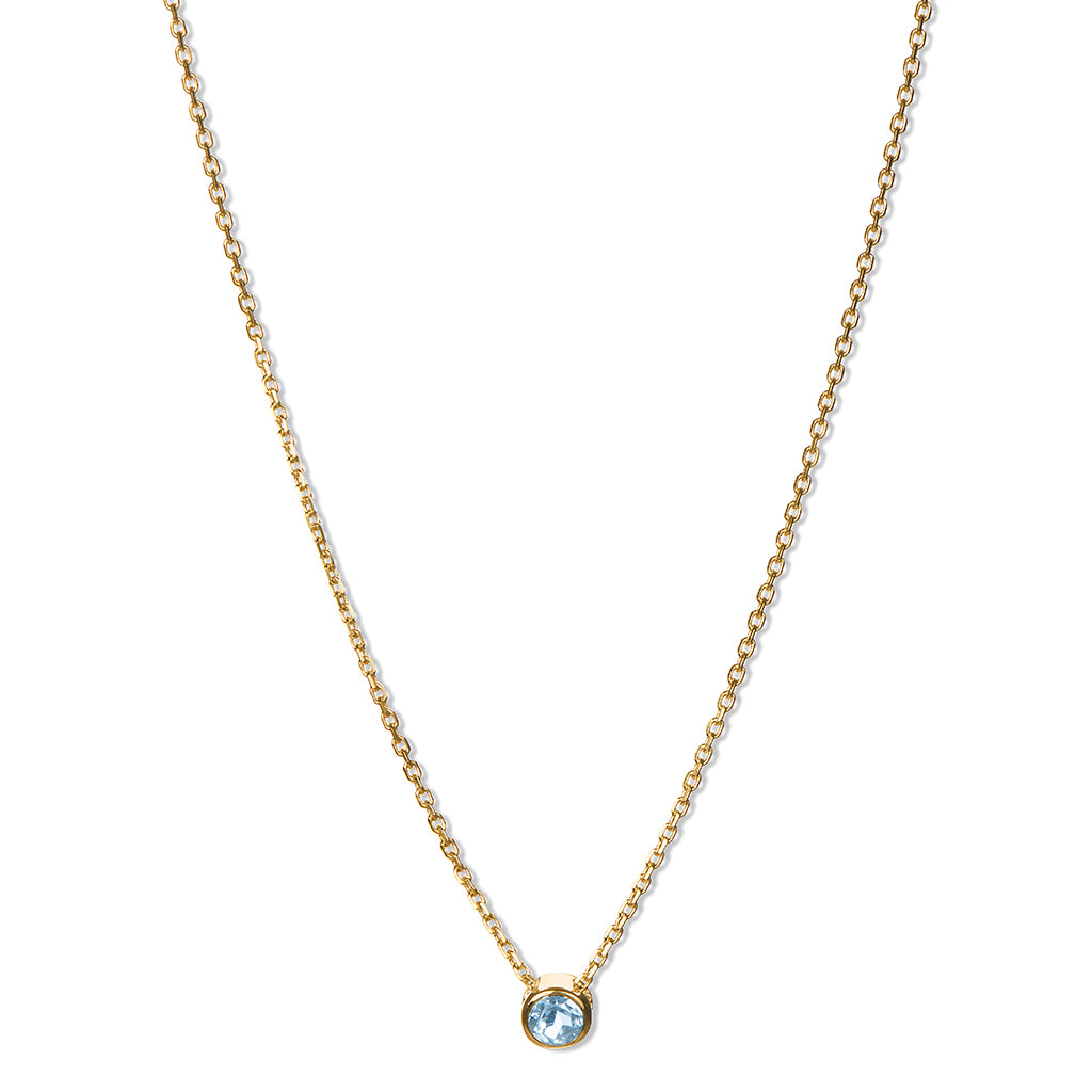 Aquamarine Solitary Necklace