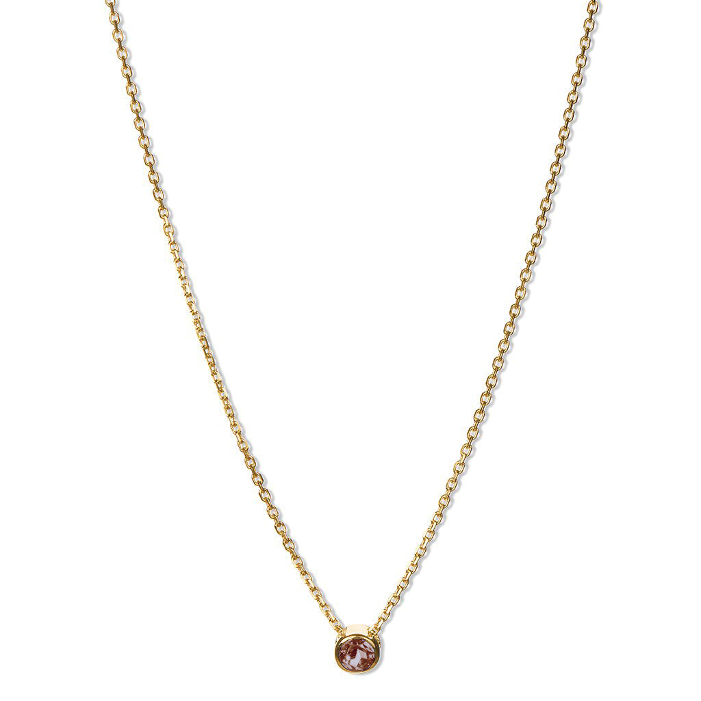 14k Gold Birthstone Necklaces