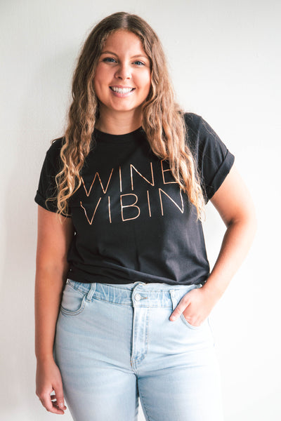 Wine Vibin' Graphic Tee (FINAL SALE)