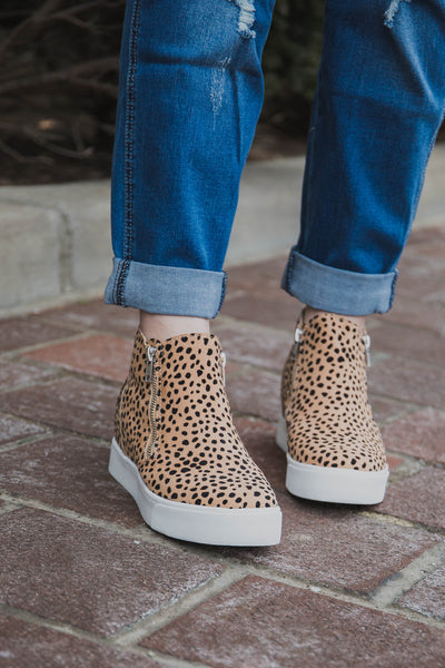 Suzie Leopard Sneaker Wedge (FINAL SALE)