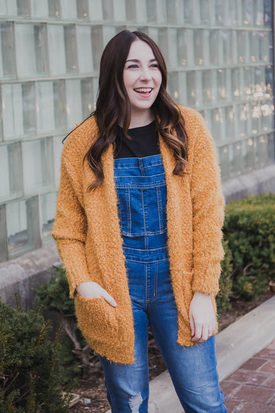 Sadie Fuzzy Cardigan (FINAL SALE)