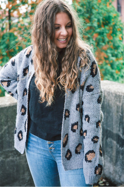 Harlie Leopard Open Cardigan - HOLIDAY SPECIAL (FINAL SALE)