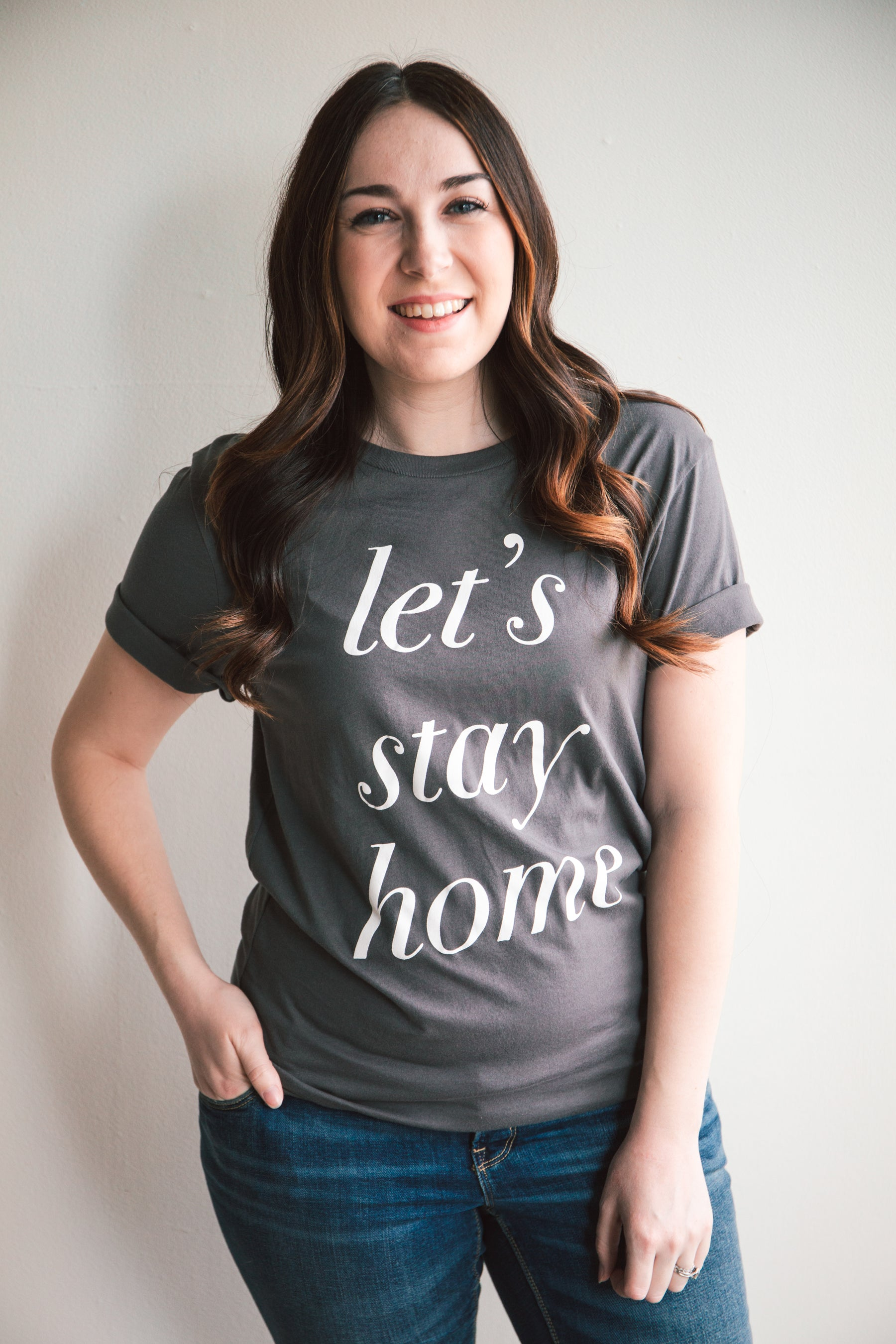 Let's Stay Home Graphic Tee (FINAL SALE)
