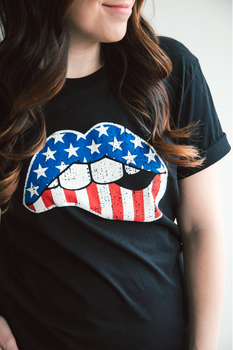 American Lip Graphic Tee (FINAL SALE)