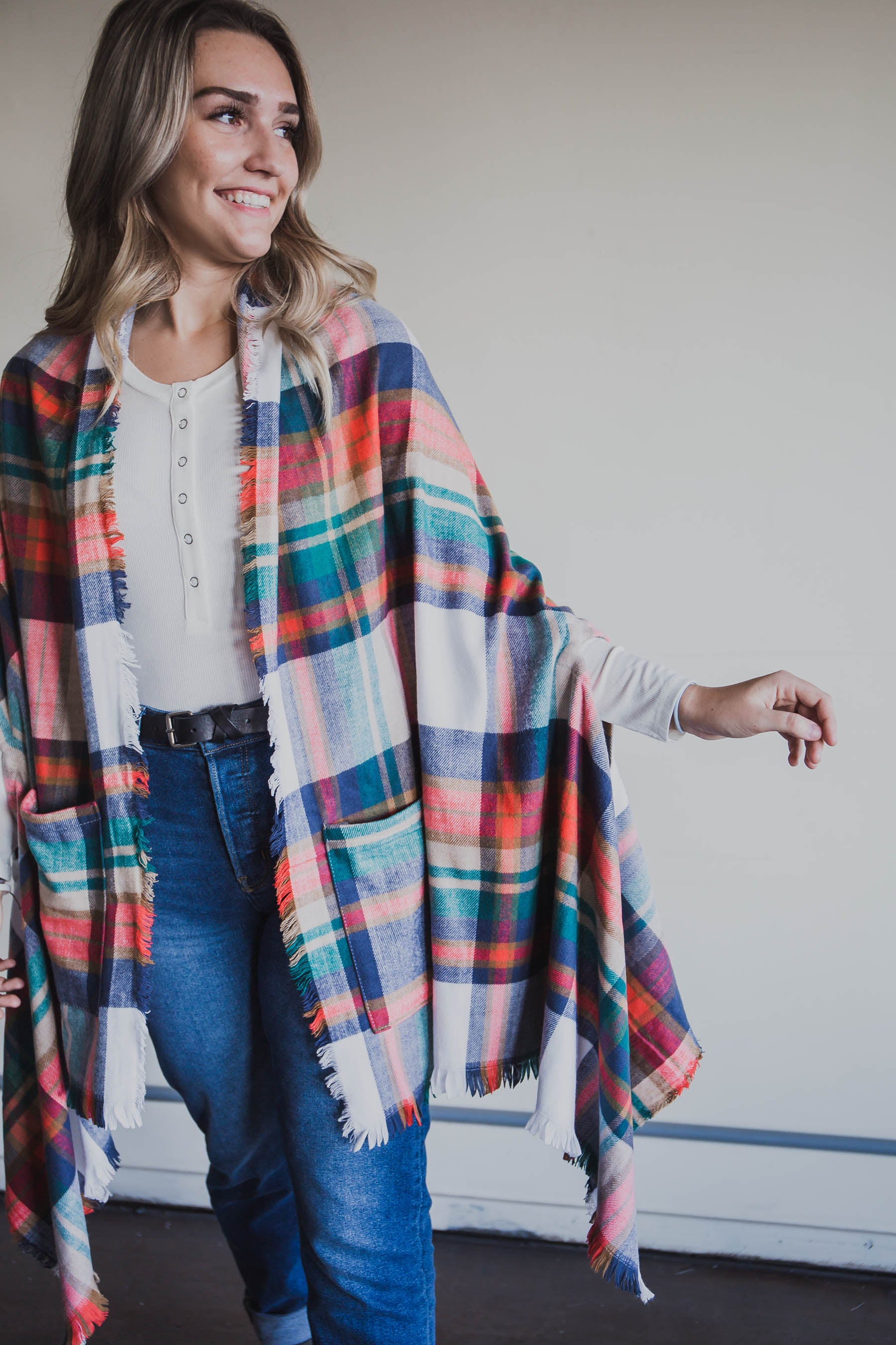 Winter Weight Pocket Poncho - Grace and Lace