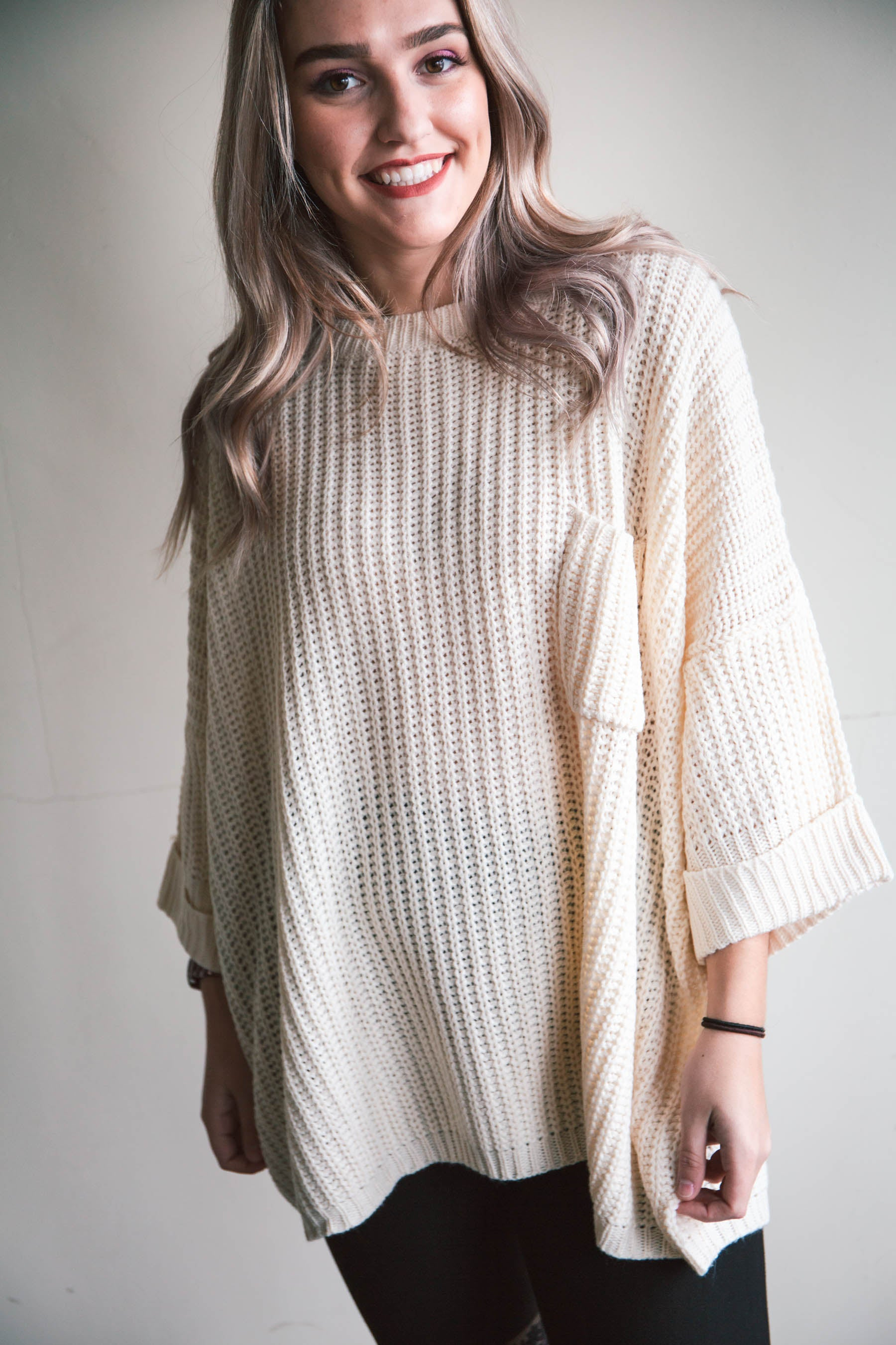 Judy Oversized Knit Pullover (FINAL SALE)