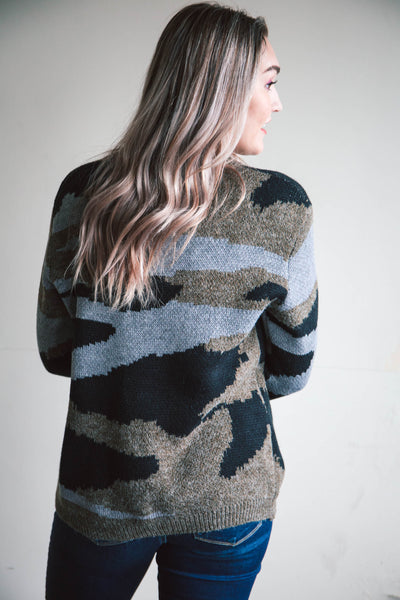 Weslie Camo Sweater (FINAL SALE)