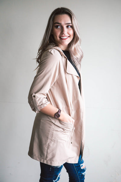 Lovely Hooded Trench Coat