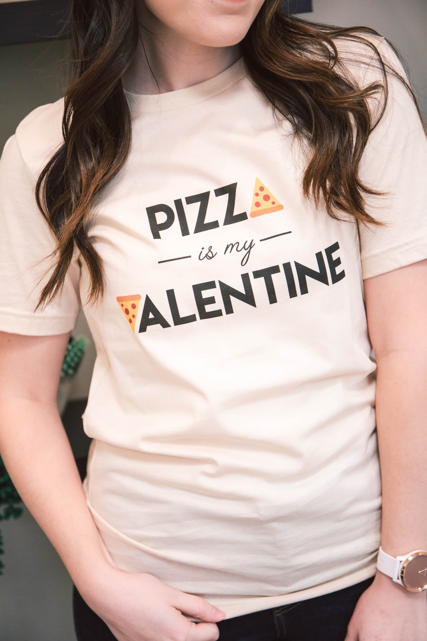 """Pizza is My Valentine"" Graphic Tee (FINAL SALE)"