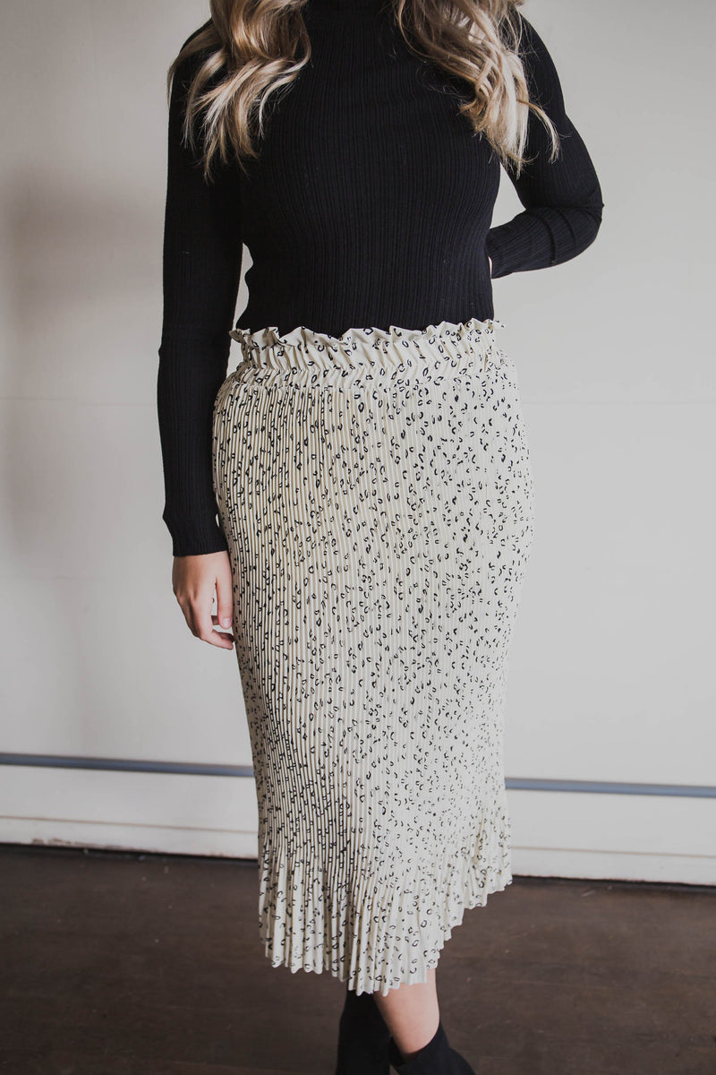 Chrissie Leopard Skirt (FINAL SALE)