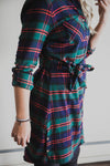 Stretch Flex Flannel Plaid Dress - Grace and Lace