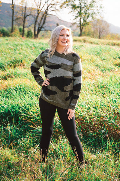 Wynter Camo Knitted Sweater - Black Friday Special (FINAL SALE)