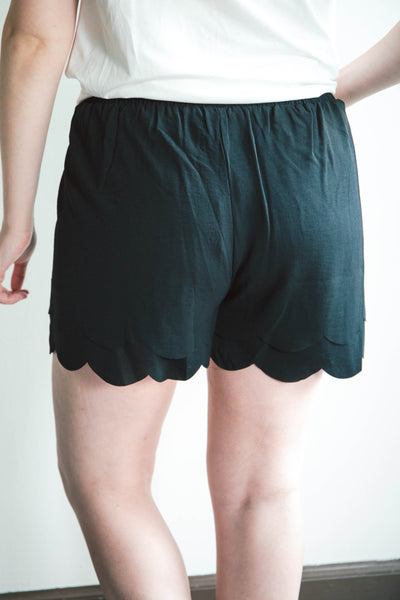 Julia Scalloped Shorts
