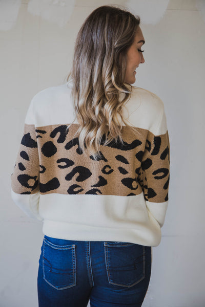 Alex Leopard Print Sweater (FINAL SALE)