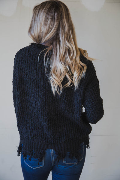 Sarah Distressed Pullover Sweater