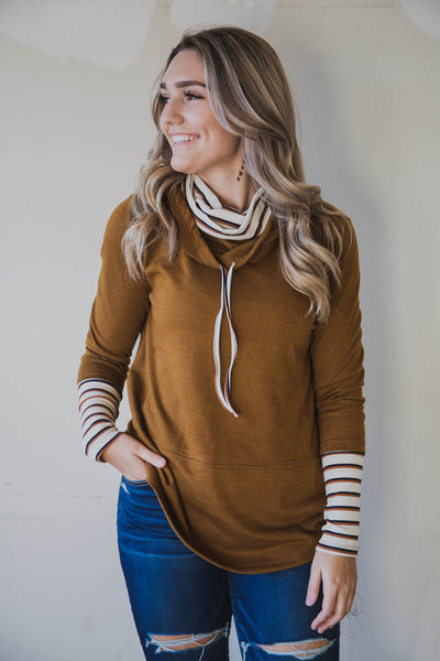 Daisy Double Cowl Neck Top