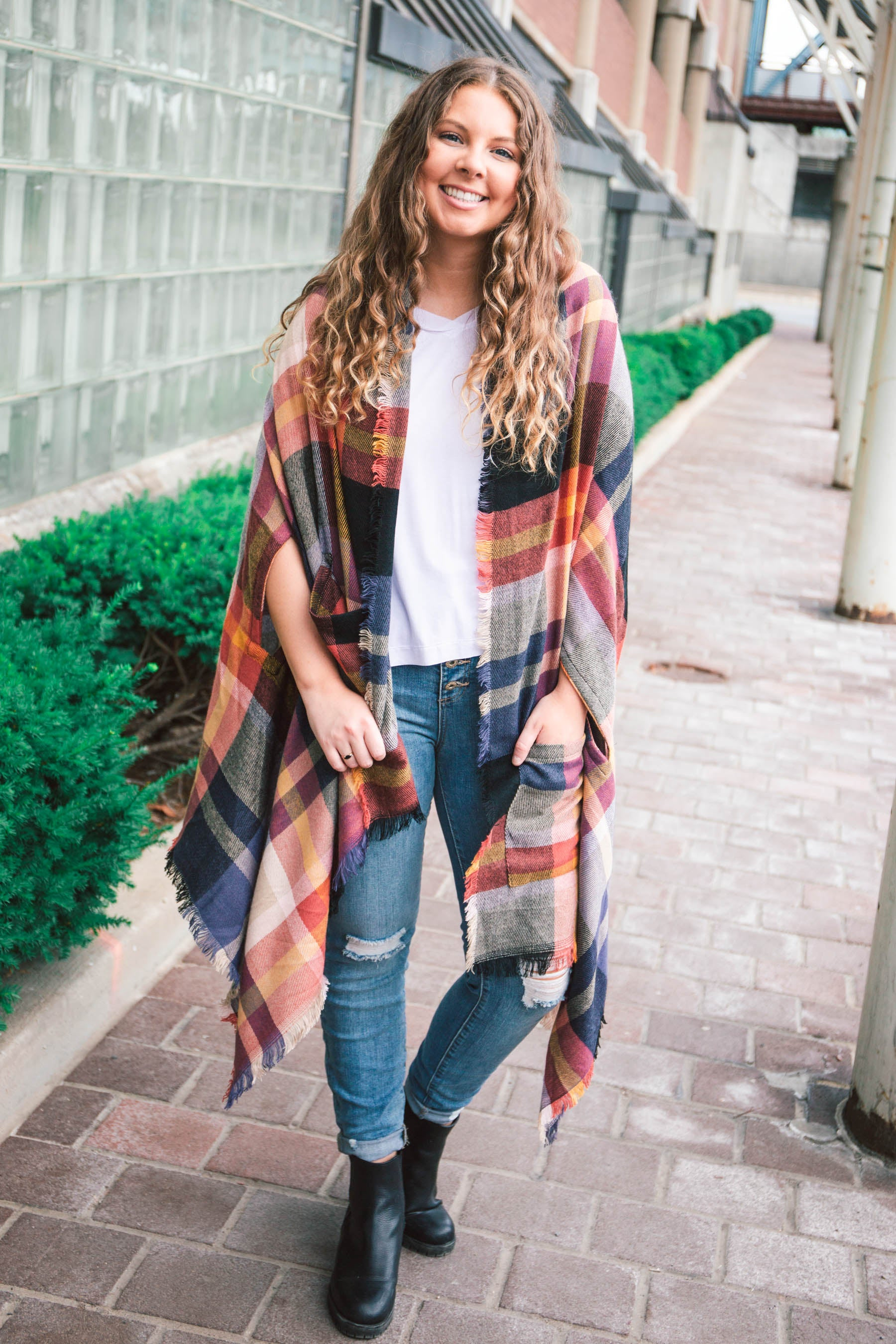 Pocket Poncho / Scarf - Grace and Lace