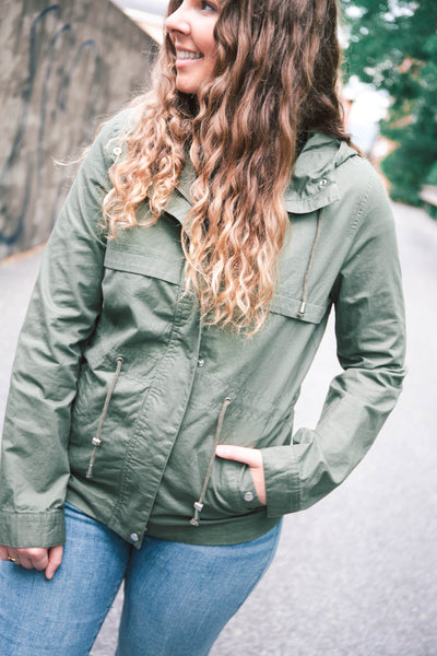 Lily Hooded Drawstring Jacket