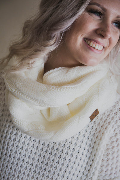Knit Scarf with Sherpa Lining (FINAL SALE)