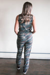 Victoria Sleeveless Camo Jumpsuit (FINAL SALE)
