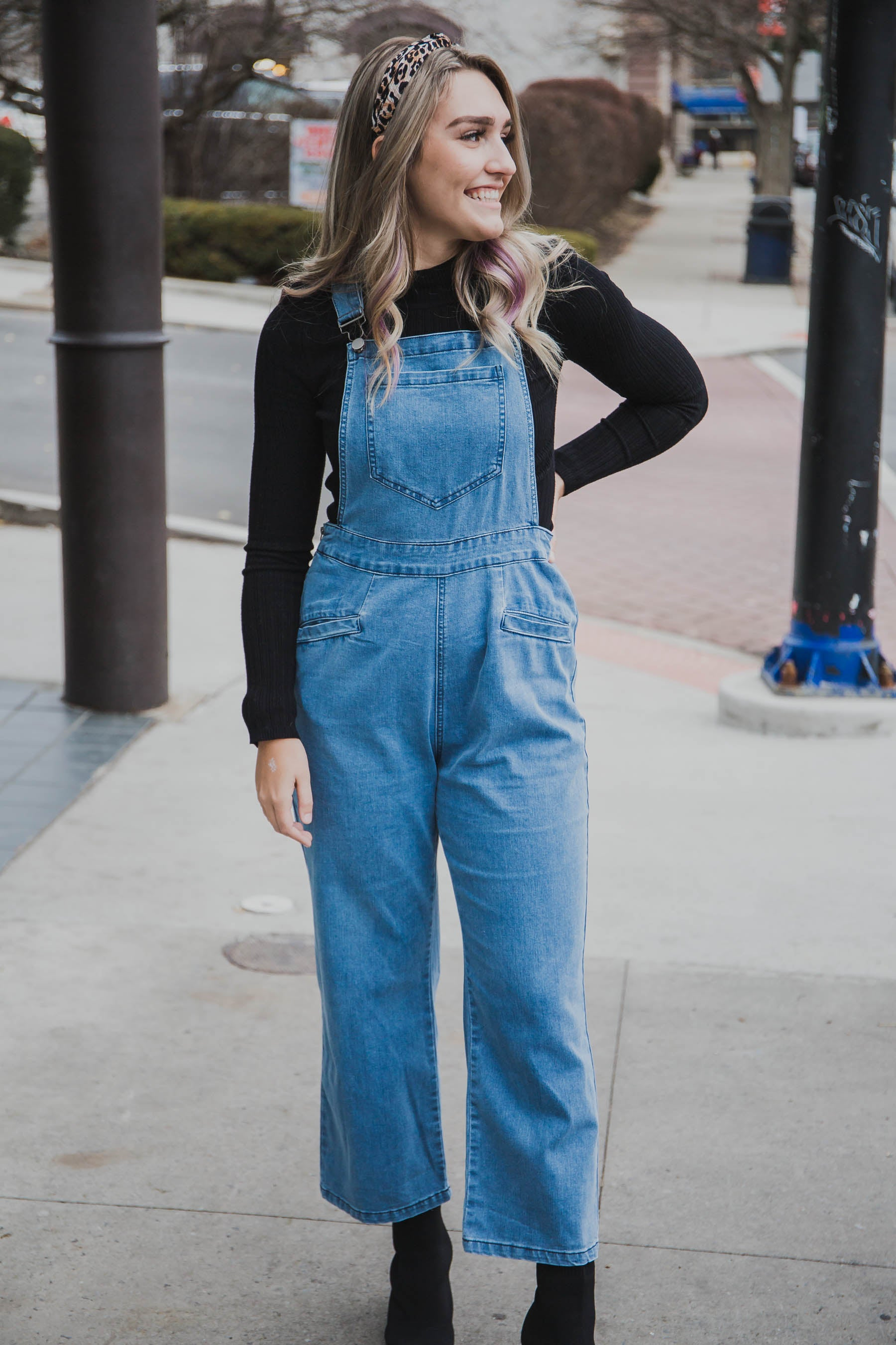 Paula Stretch Denim Overalls