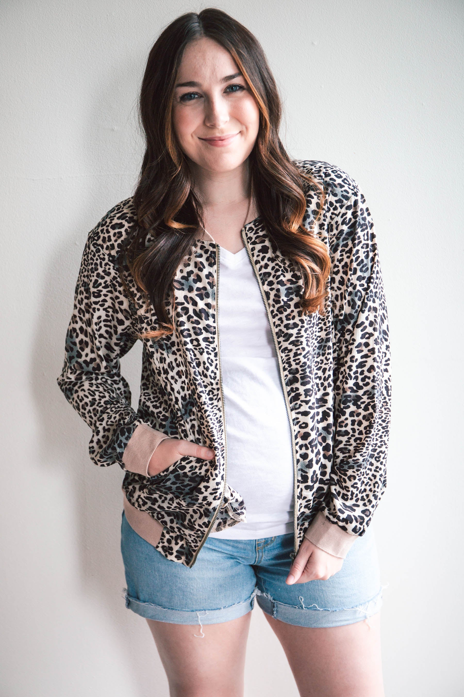Kelly Leopard Lightweight Bomber Jacket (FINAL SALE)