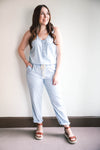 Tatiana Washed Chambray Jumpsuit