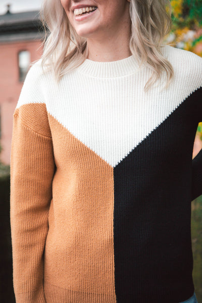Asher Color Block Sweater