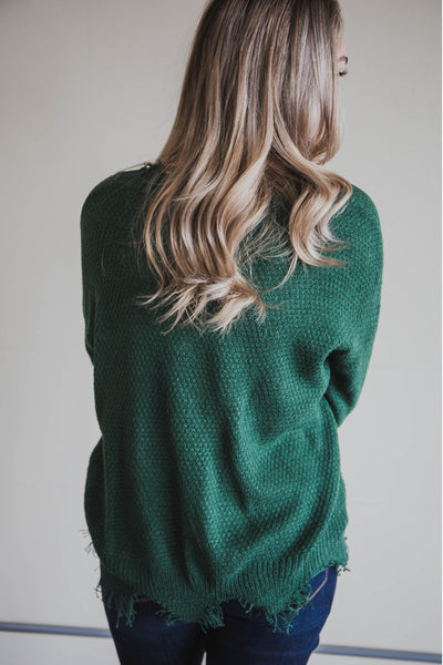 Maggie Frayed Sweater (FINAL SALE)