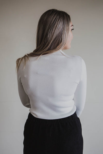 Mandie Mock Neck Top (FINAL SALE)