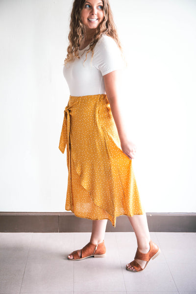 Hannah Front-Tie Midi Skirt (FINAL SALE)