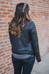 Move Free Leather Look Moto Jacket - Grace and Lace