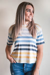 The Rainbow Stripe Tee - Z Supply (FINAL SALE)