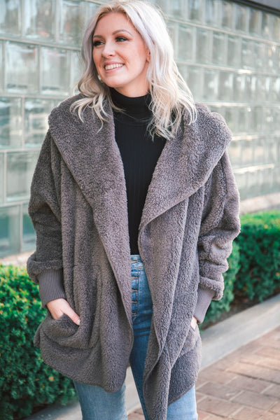 Miles Wubby-Lined Hooded Cardigan (FINAL SALE)