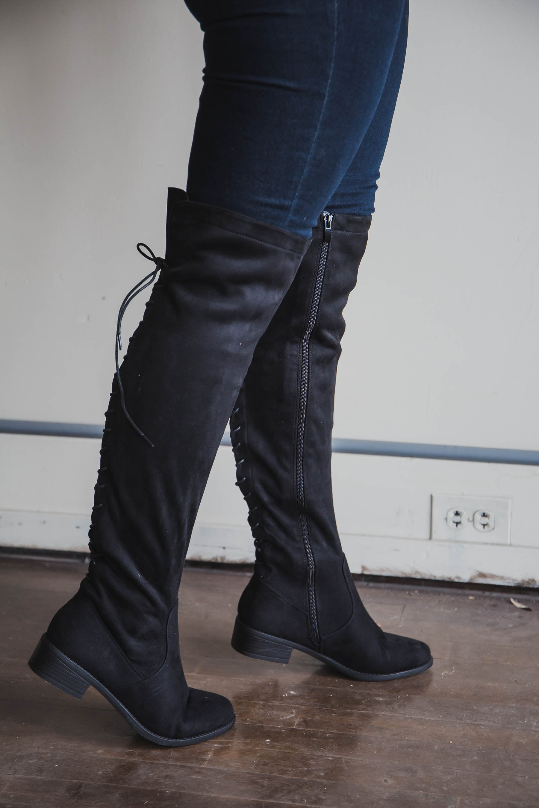 Jones Lace-Up Over-the-Knee Boots