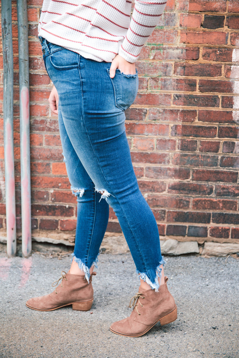 Gemma High-Rise Ankle Skinny Jeans - KanCan - Holiday Special (FINAL SALE)