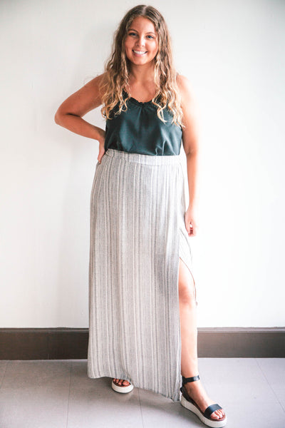 Helen Faux Wrap Maxi Skirt (FINAL SALE)